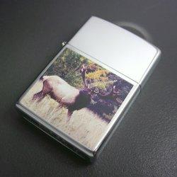 画像1: zippo シカ 両面 シリアルナンバー999/999 1996年製造
