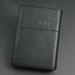 画像1: zippo レザーZLG BK ロゴ