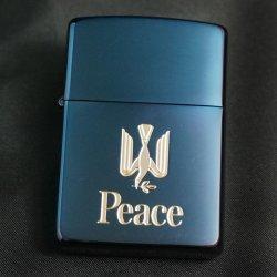 画像1: zippo Peace ブルーチタン 懸賞商品 1995年製造
