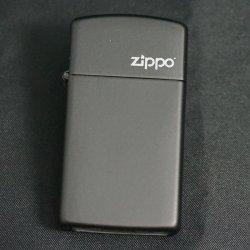 画像1: zippo マットカラー 黒 Black Matte スリム 1618ZL
