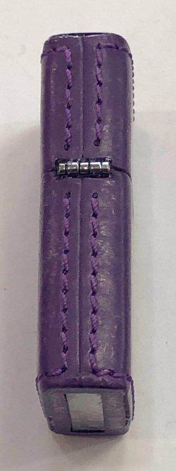画像3: zippo 革巻き 紫 2018年製造