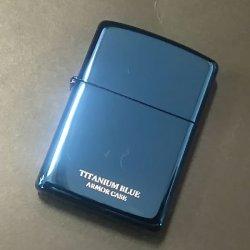 画像1: zippo ARMOR ブルーチタンコーティング 16-BLTT 2020年製造 新品未使用